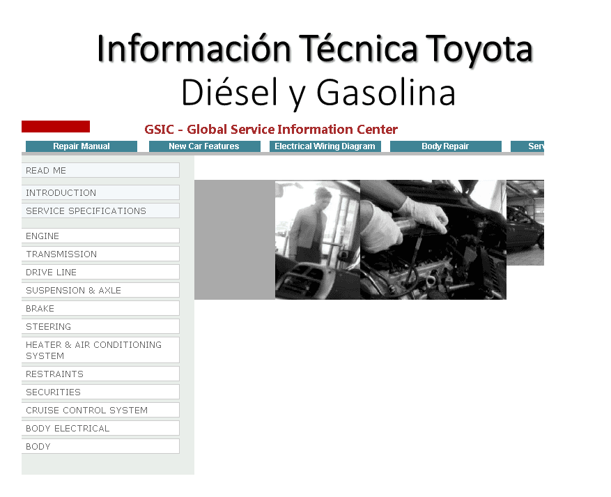 Toyota GSIC Global Service Information Center