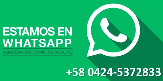 Comunicate con nosotros por whatsap