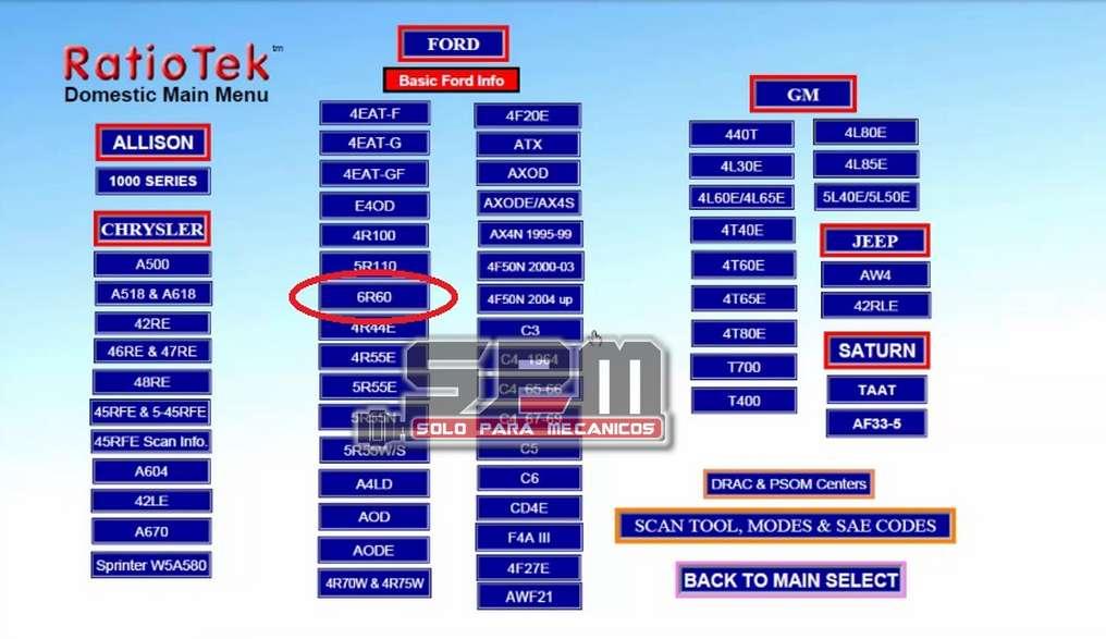 Ratio Teck reparación transmisiones