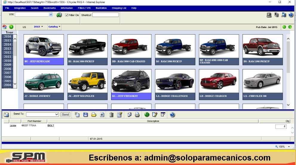 Catálogo Partes Chrysler EPC PAIS