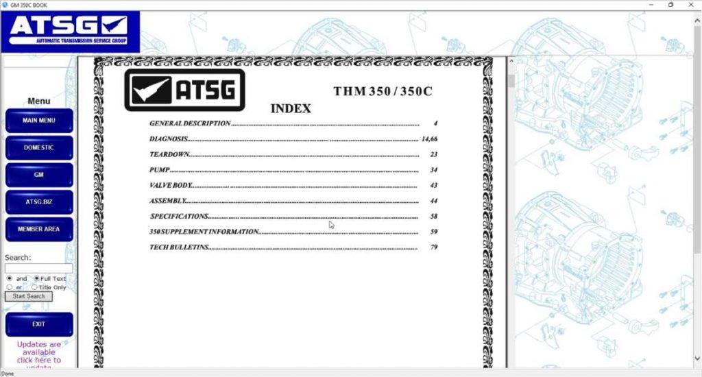 ATSG 2017 secciones