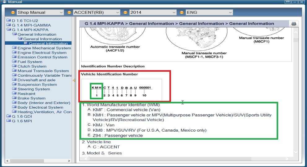 Hyundai GDS Sección guías DTC