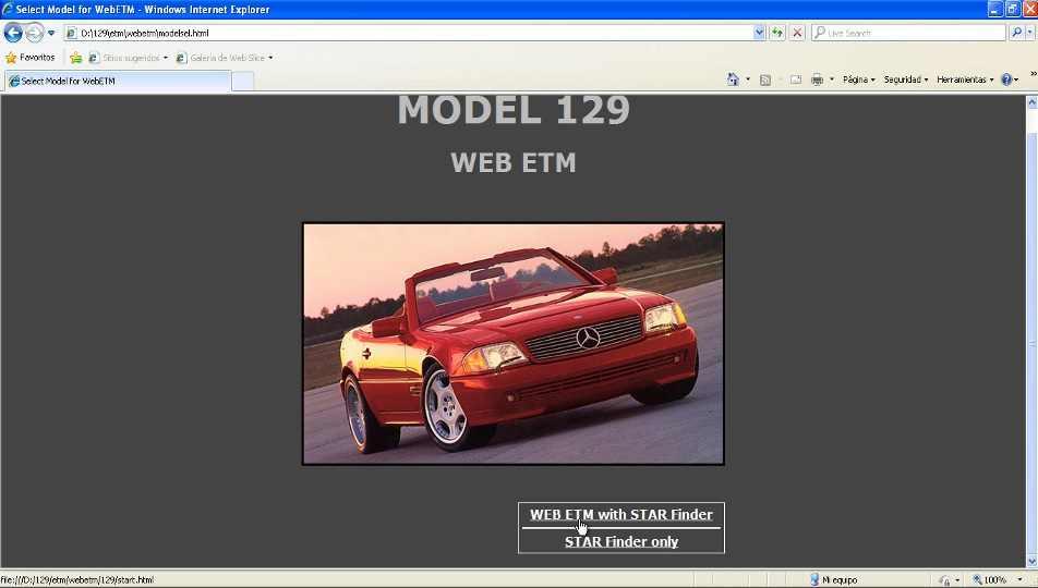 MMercedes Benz StarfinderModel 129
