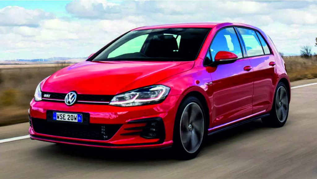 VW Golf 2019 Características físicas