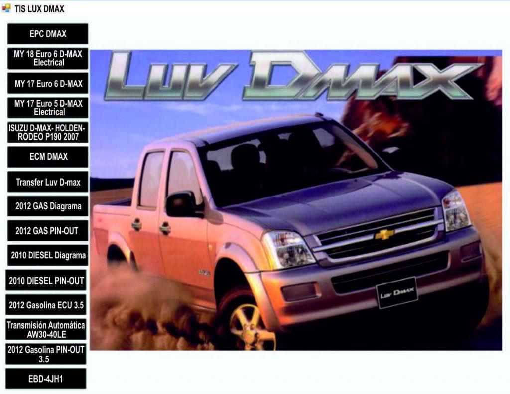TIS LUV DMAX Menú principal