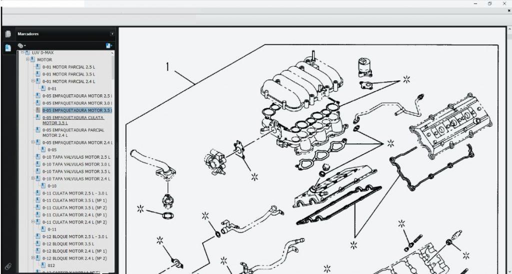 TIS LUV DMAX diagrama eléctrico del motor