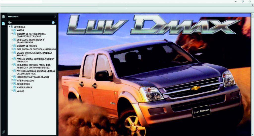 TIS LUV DMAX catálogo de partes