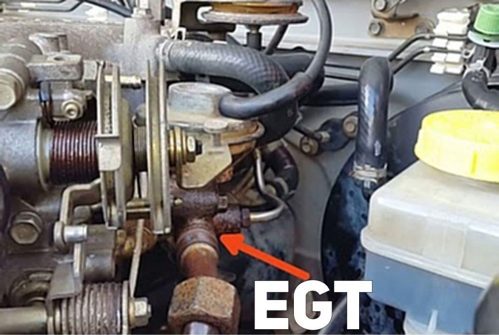 Sensor temperatura de los gases de escape EGT